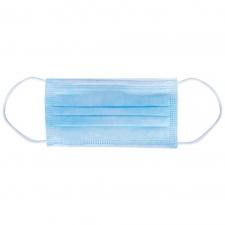 3-kihiline kirurgiline mask, BFE2, sinine, kummidega, N50